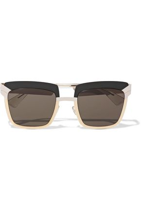 MYKITA Square-frame metal and acetate sunglasses