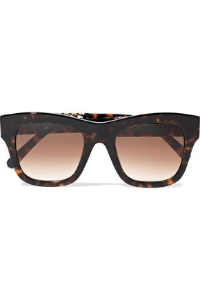 f6677d954e09 STELLA McCARTNEY Square-frame embellished tortoiseshell acetate sunglasses