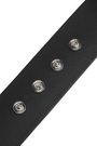 VERSUS VERSACE Silver-tone trimmed leather belt