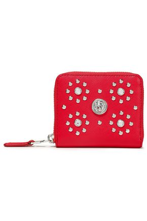 VERSUS VERSACE Studded textured-leather wallet