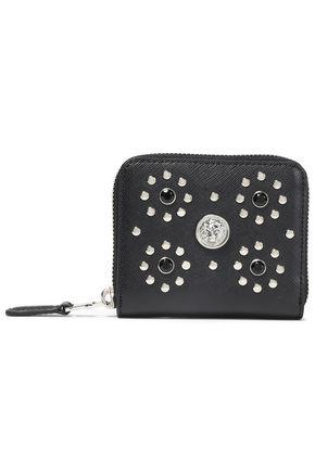 VERSUS VERSACE Studded textured-leather wallet