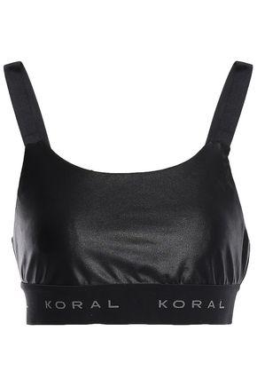 KORAL Dare cutout coated stretch sports bra