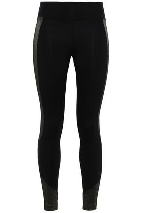 KORAL Metallic-trimmed stretch leggings