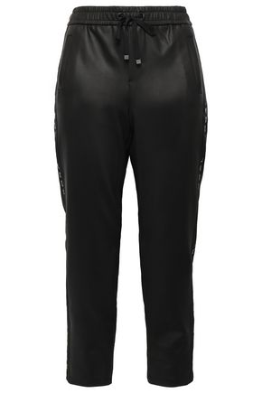 KORAL Zone cropped coated neoprene track pants