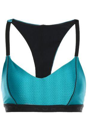 KORAL Metallic textured stretch sports bra