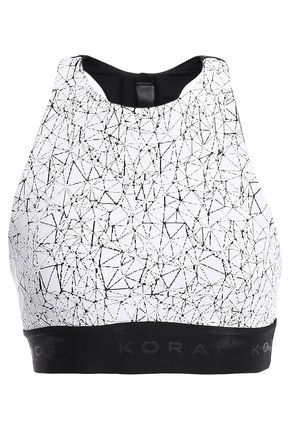 KORAL Del Rey cutout printed stretch sports bra
