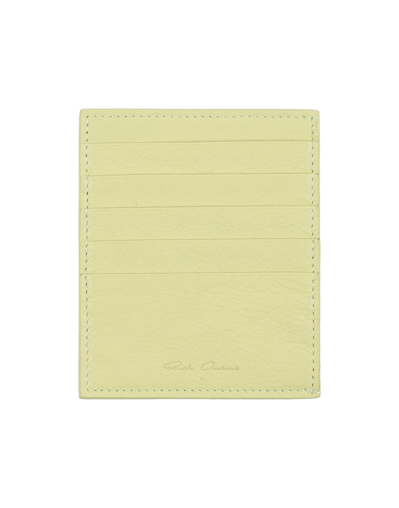RICK OWENS Document holders. textured leather, logo, solid color, fully lined, contains non-textile parts of animal origin. 100% Calfskin