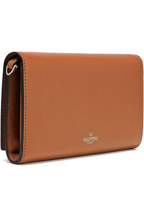 VALENTINO GARAVANI Studded appliquéd leather wallet