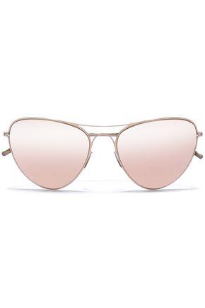 MYKITA + MAISON MARGIELA Aviator-style gold-tone sunglasses