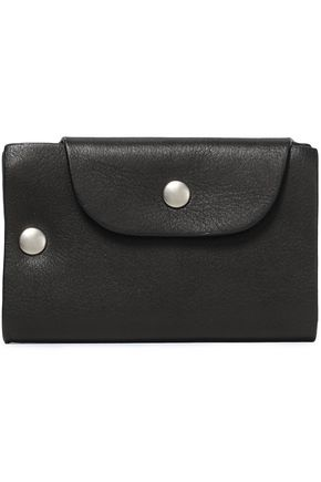 ANN DEMEULEMEESTER Textured-leather cardholder