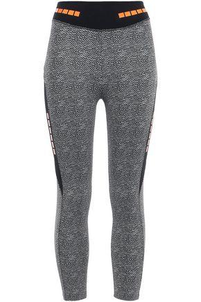 SÀPOPA Neon-trimmed printed stretch leggings