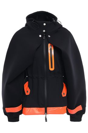 SÀPOPA Neon-trimmed scuba hooded jacket
