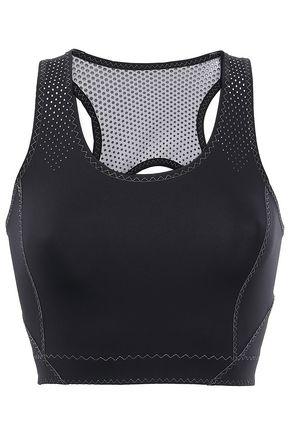 SÀPOPA Mesh-paneled cutout stretch sports bra