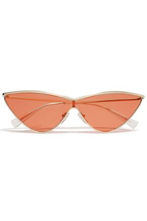 ADAM SELMAN x LE SPECS Cat-eye gold-tone sunglasses