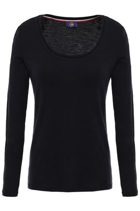 FUSALP Mesh-trimmed merino wool top