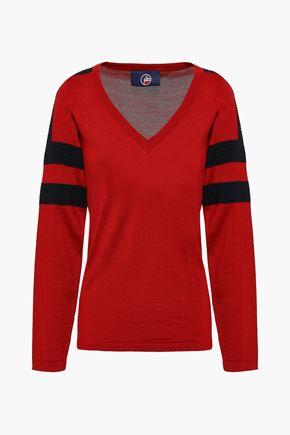 FUSALP Striped intarsia-knit sweater