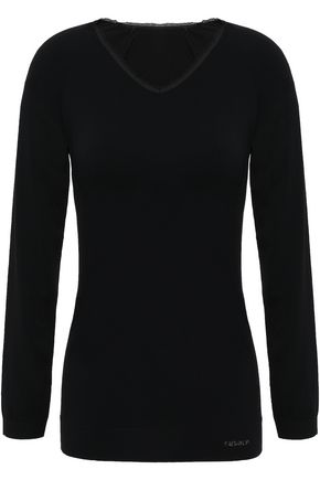 FUSALP Troop mesh-trimmed modal-blend jersey top