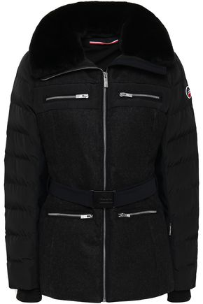 FUSALP Zip-detailed cotton-blend shell down jacket