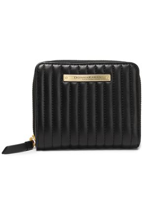 DONNA KARAN Quilted leather wallet
