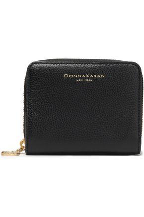DONNA KARAN Textured-leather wallet