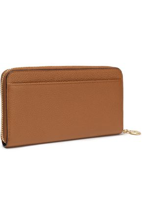 DONNA KARAN Textured-leather continental wallet