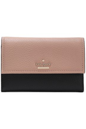 KATE SPADE New York Two-tone textured-leather wallet