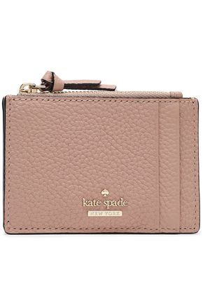 KATE SPADE New York Textured-leather cardholder