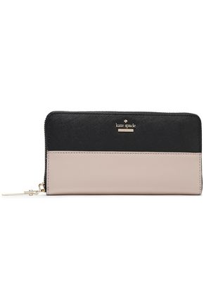 KATE SPADE New York Cameron Street Lacey two-tone leather continental wallet