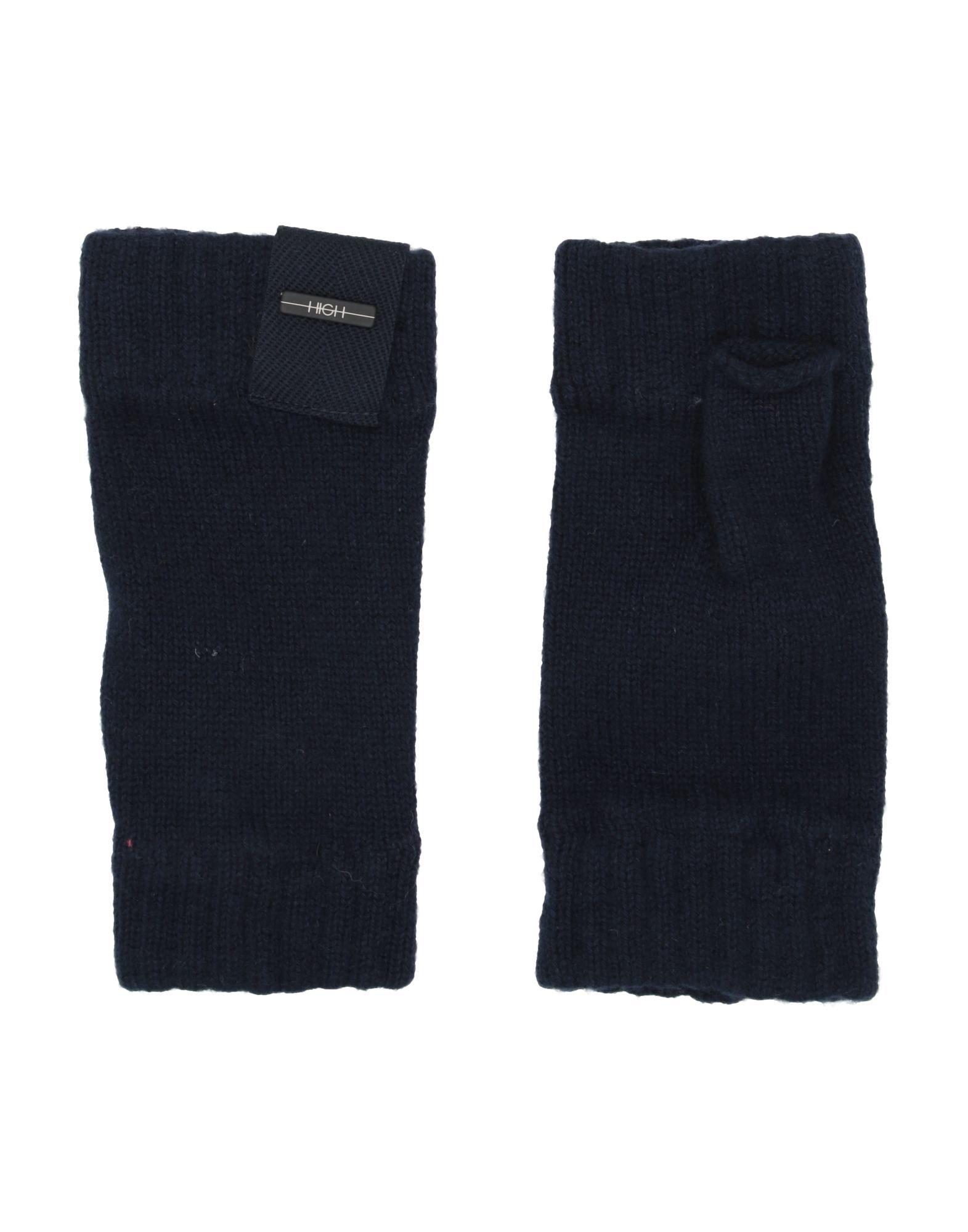 《送料無料》HIGH by CLAIRE CAMPBELL レディース 手袋 ダークブルー one size カシミヤ 100%