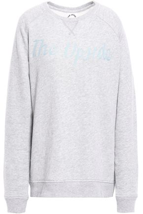 THE UPSIDE St Tropez Sid embroidered French cotton-terry sweatshirt