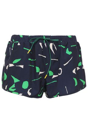 THE UPSIDE Printed shell shorts