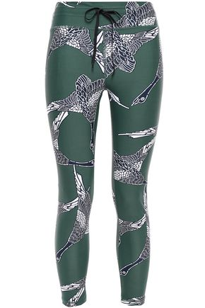 THE UPSIDE Cropped printed stretch leggings