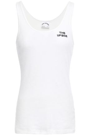 THE UPSIDE Ribbed cotton-jersey tank