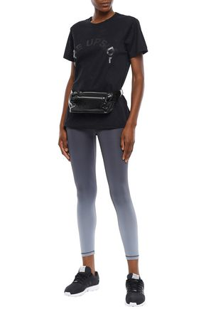 THE UPSIDE Perforated stretch-jersey T-shirt