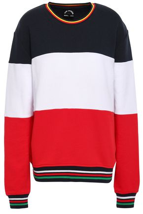 THE UPSIDE Color-block French cotton-terry sweatshirt