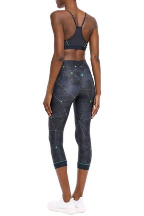 THE UPSIDE Stars NYC cropped printed stretch leggings