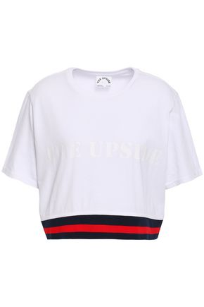 THE UPSIDE Cropped Pima cotton-jersey t-shirt