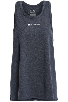 THE UPSIDE Mélange jersey tank