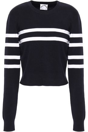 THE UPSIDE Striped cotton-blend sweater