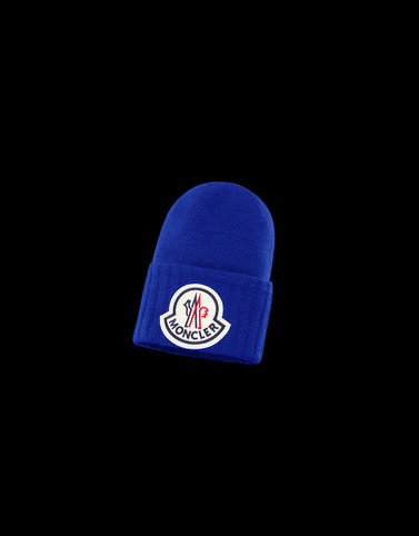 HAT Light blue Category BEANIES Man