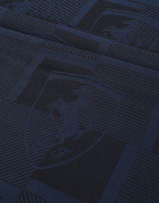 Scuderia Ferrari Online Store - 男士格纹与法拉利盾形徽标围巾 - 围巾