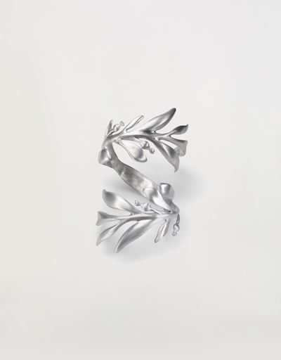 Aluminum bracelet made in Italy with laurel wreath shape