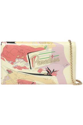 EMILIO PUCCI Printed patent-leather wallet