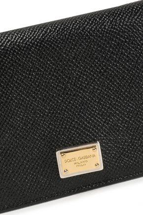 DOLCE & GABBANA Textured-leather cardholder