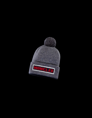 HAT Dark grey Category POMPOM BEANIES