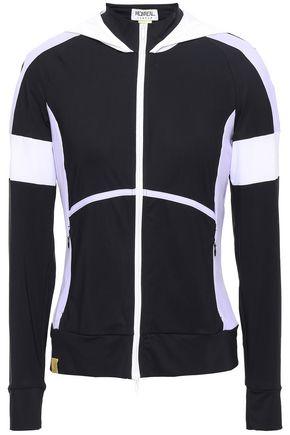 MONREAL LONDON Color-block mesh-paneled stretch hooded jacket