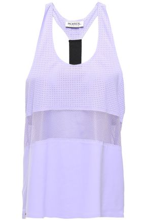 MONREAL LONDON Mesh-paneled perforated stretch tank