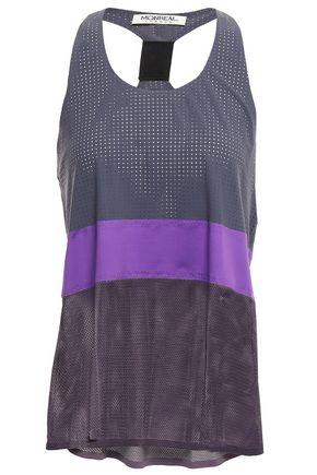 MONREAL LONDON Perforated stretch-mesh tank