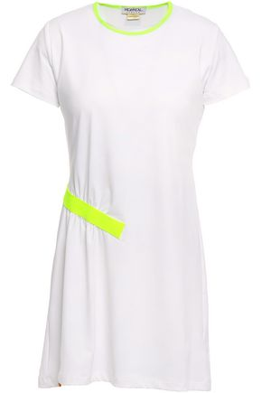 MONREAL LONDON Neon-trimmed stretch-jersey mini dress