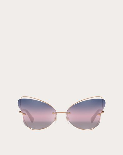BUTTERFLY RIMELESS METAL SUNGLASSES